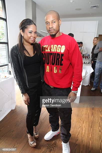 Angela Yee and SpadeO attends A Live Episodic Introduction Of Darnaa Hosted By Angela Yee at Le Foret New Orleans on February 16 2014 in New Orleans...