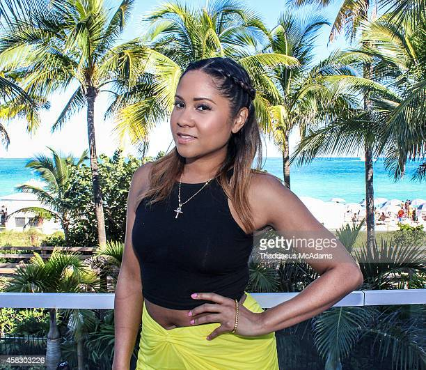 Angela Yee attends Revolt Music Conference at Fontainebleau Miami Beach on October 17 2014 in Miami Beach Florida