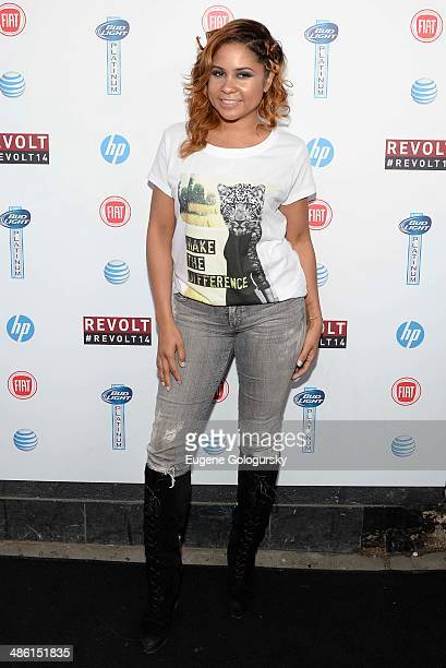 Angela Yee attends the Revolt TV 2014 Upfront presentation at Marquee on April 22 2014 in New York City