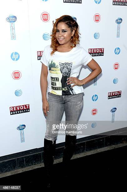 Angela Yee attends the REVOLT TV First Annual Upfront presentation at Marquee on April 22 2014 in New York City