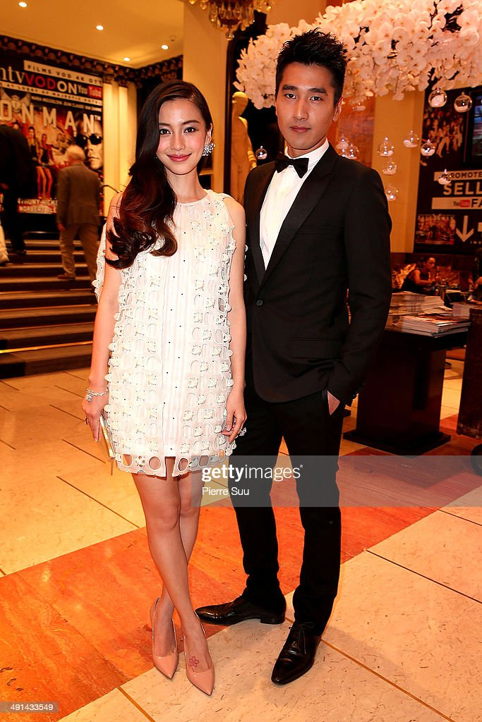 <a gi-track='captionPersonalityLinkClicked' href=/galleries/search?phrase=Angelababy&family=editorial&specificpeople=5922162 ng-click='$event.stopPropagation()'>Angelababy</a> and Mark Chao at the 'Majestic' hotel on day 1 of the 67th Annual Cannes Film Festival on May 16, 2014 in Cannes, France.