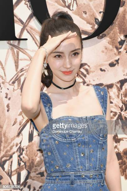 Angelababy attends the Christian Dior Haute Couture Fall/Winter 20172018 show as part of Haute Couture Paris Fashion Week on July 3 2017 in Paris...