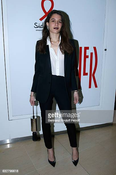 Angele Metzger attends the Sidaction Gala Dinner 2017 Haute Couture Spring Summer 2017 show as part of Paris Fashion Week on January 26 2017 in Paris...