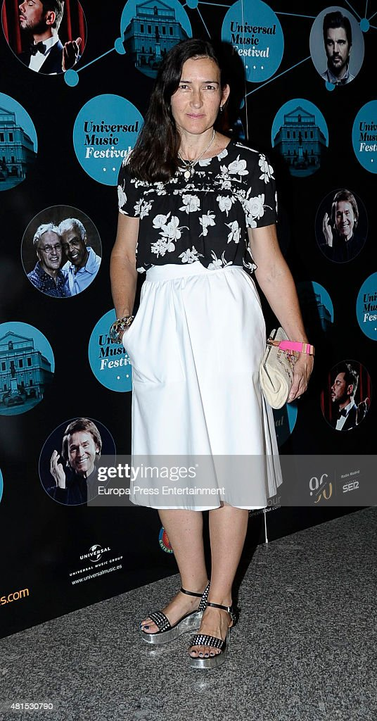 Angeles Gonzalez Sinde attends Caetano Veloso Gilberto Gil concert on July 21 2015 in Madrid Spain
