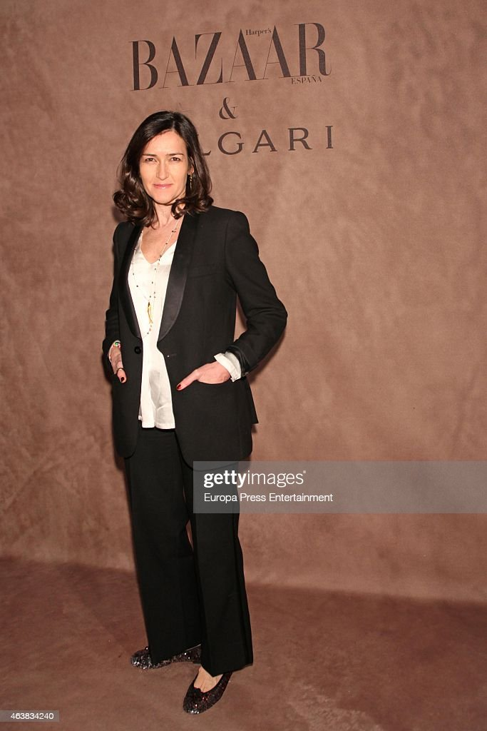 Angeles Gonzalez Sinde attends Harper's Bazaar party at USA Embassy on February 18 2015 in Madrid Spain