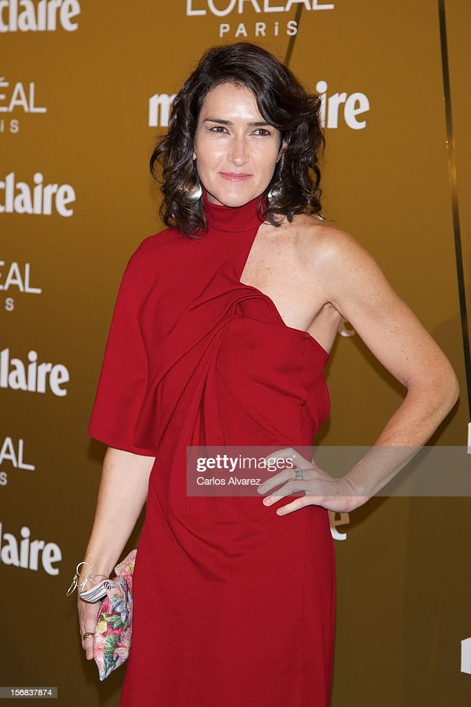 Angeles Gonzalez Sinde attends Marie Claire Prix de la Moda Awards 2012 at the French Embassy on November 22 2012 in Madrid Spain