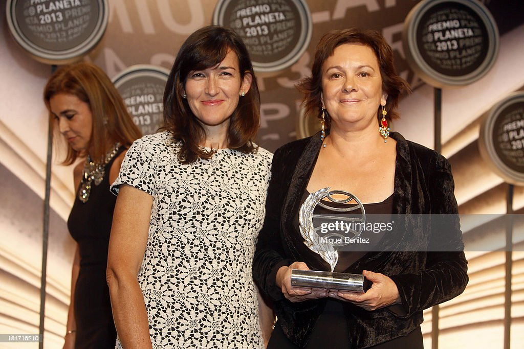 Angeles GonzalezSinde and Clara Sanchez winner of '62ndon Premio Planeta' literature award attend the '62nd Premio Planeta' Literature Awards the...