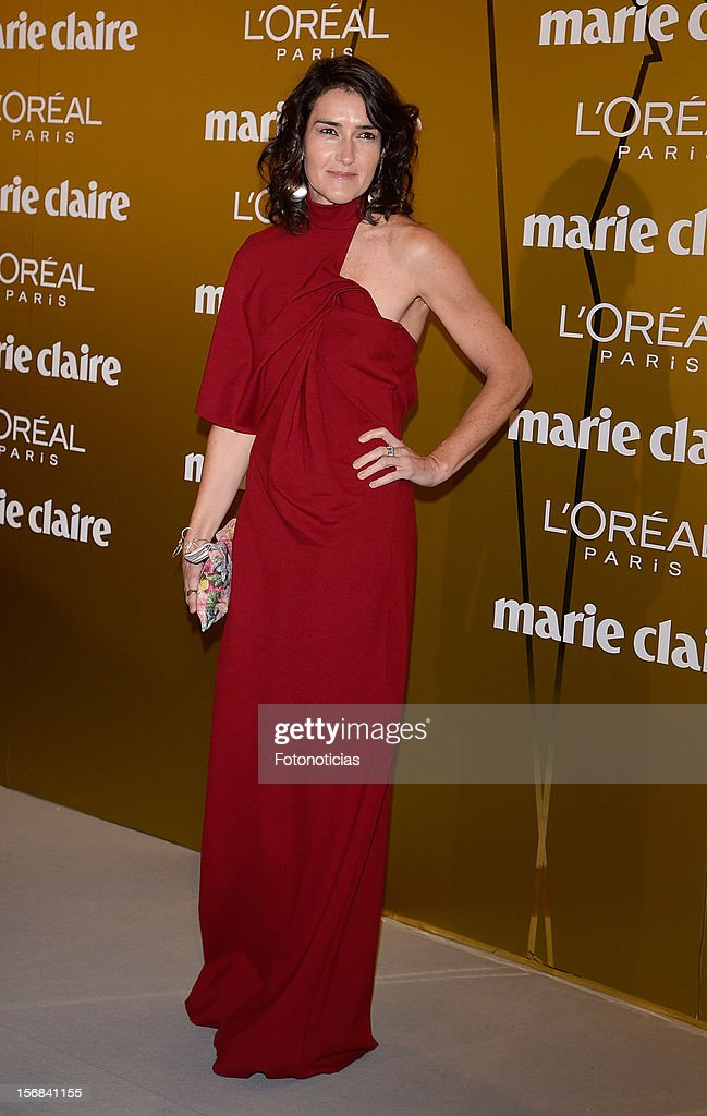 Angeles Gonzalez-Sinde attends 'Marie Claire Prix de la Mode 2012' ceremony at the French Ambassadors Residence on November 22, 2012 in Madrid, Spain.