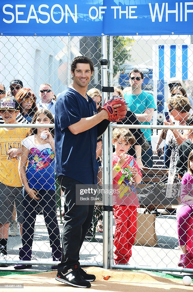 L.A. Angeles of Anaheim pitcher CJ Wilson participates in Head & Shoulders 'Whiff-A-Thon' benefiting MLB's Reviving Baseball in Inner Cities Program at The Grove on March 29, 2013 in Los Angeles, California. Ê