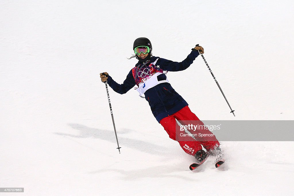 <a gi-track='captionPersonalityLinkClicked' href=/galleries/search?phrase=Angeli+Vanlaanen&family=editorial&specificpeople=5691215 ng-click='$event.stopPropagation()'>Angeli Vanlaanen</a> of the United States reacts in the Freestyle Skiing Ladies' Ski Halfpipe Qualification on day thirteen of the 2014 Winter Olympics at Rosa Khutor Extreme Park on February 20, 2014 in Sochi, Russia.