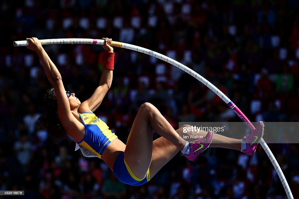 Angelica Bengtsson of Sweden competes in the Women's Pole Vault qualification during day one of the 22nd European Athletics Championships at Stadium Letzigrund on August 12, 2014 in Zurich, Switzerland.