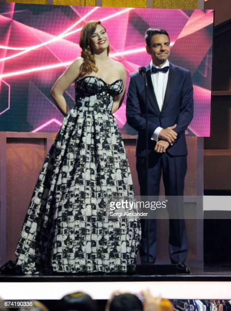 Angelica Celaya and Eugenio Derbez onstage at the Billboard Latin Music Awards at Watsco Center on April 27 2017 in Coral Gables Florida