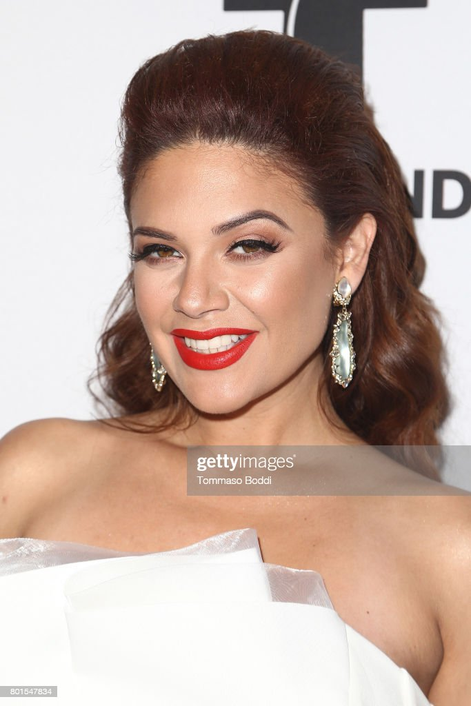 Angelica Celaya attends the Screening Of Telemundo's 'Jenni Rivera: Mariposa De Barrio' at The GRAMMY Museum on June 26, 2017 in Los Angeles, California.