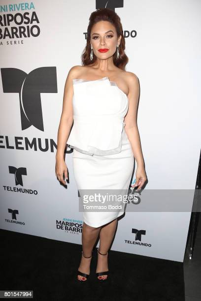 Angelica Celaya attends the Screening Of Telemundo's 'Jenni Rivera Mariposa De Barrio' at The GRAMMY Museum on June 26 2017 in Los Angeles California