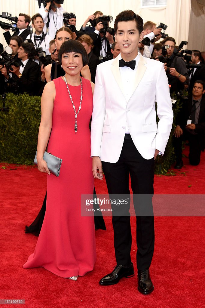 Angelica Cheung and a guest attend the 'China Through The Looking Glass' Costume Institute Benefit Gala at the Metropolitan Museum of Art on May 4...