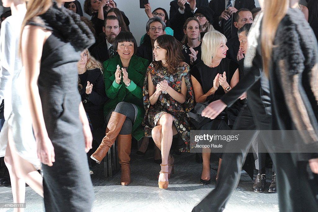 Angelica Cheung and Alexa Chungattend International Woolmark Prize during Milan Fashion Week Womenswear Autumn/Winter 2014 on February 21 2014 in...