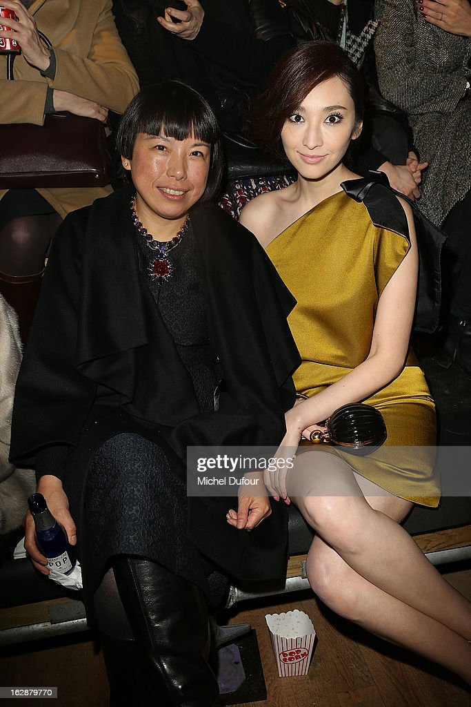 <Angelica Cheung and Pace Wu>attend the Lanvin Fall/Winter 2013 ReadytoWear show as part of Paris Fashion Week on February 28 2013 in Paris France