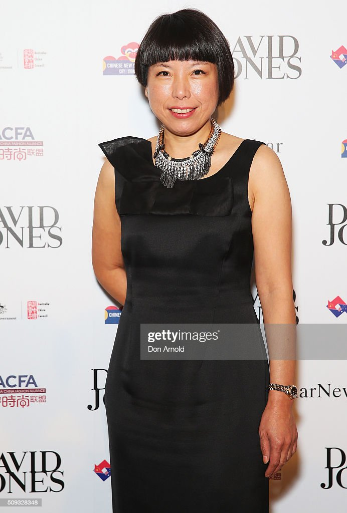 Angelica Cheung arrives ahead of the Lunar New Year Designer Collection Launch Party at David Jones Elizabeth Street Store on February 10, 2016 in Sydney, Australia.