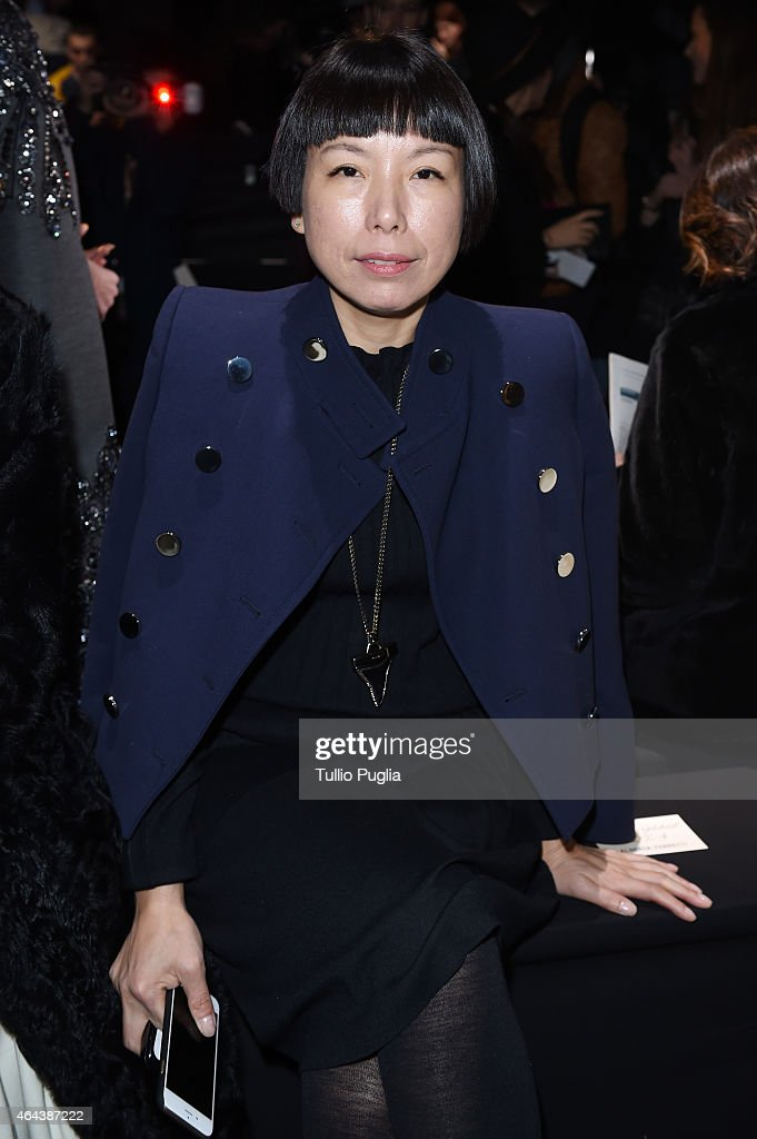 Angelica Cheung attends the Alberta Ferretti show during the Milan Fashion Week Autumn/Winter 2015 on February 25 2015 in Milan Italy