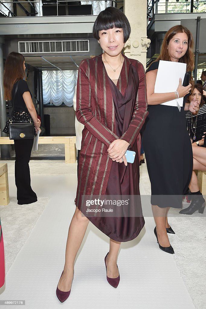 Angelica Cheung attends the Giamba show during the Milan Fashion Week Spring/Summer 2016 on September 25 2015 in Milan Italy