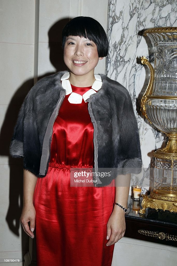 Angelica Cheung attends the intimate dinner hosted by Keith Of Joyce Angelica Cheung at Galerie Joyce on March 3 2011 in Paris France