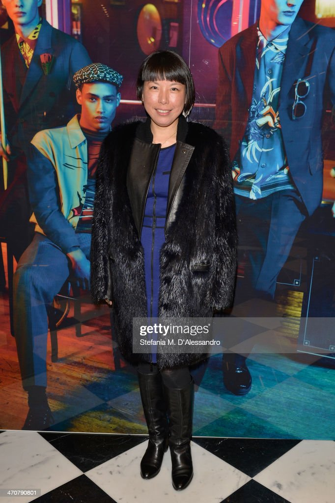 Angelica Cheung attends the Prada Iconoclasts by Edward Enninful during Milan Fashion Week Womenswear Autumn/Winter 2014 on February 20 2014 in Milan...