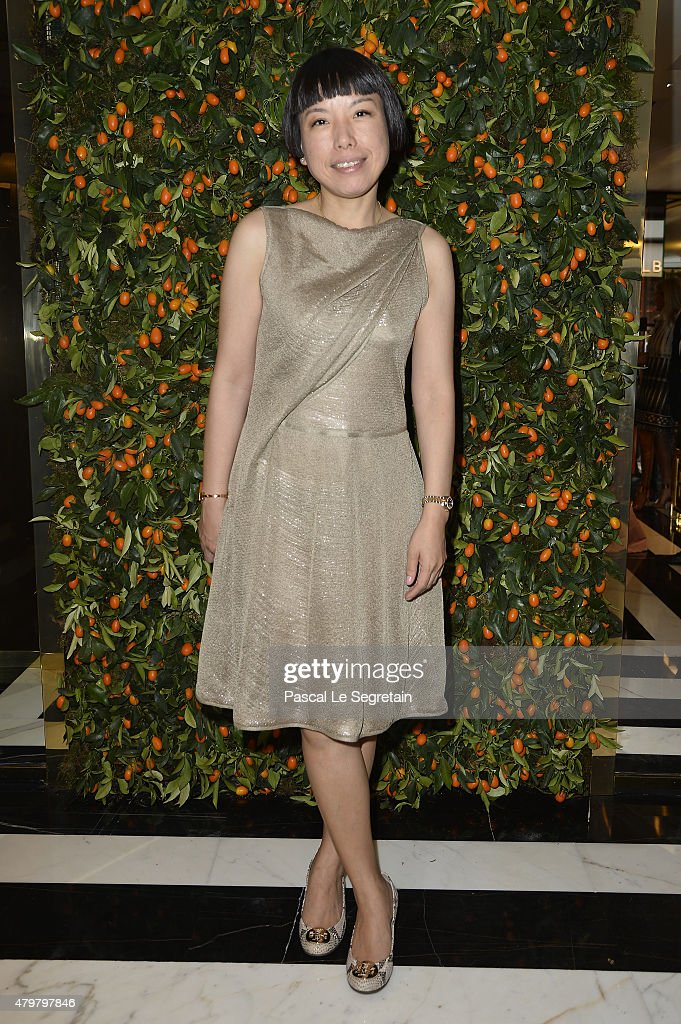 Angelica Cheung attends Tory Burch Paris Flagship store opening on July 7 2015 in Paris France