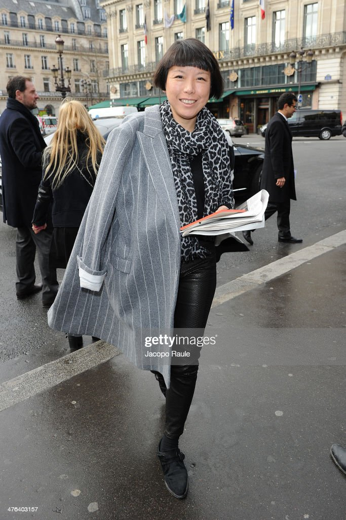 Angelica Cheung is seen at the Stella McCartney show as part of the Paris Fashion Week Womenswear Fall/Winter 20142015 on March 3 2014 in Paris France
