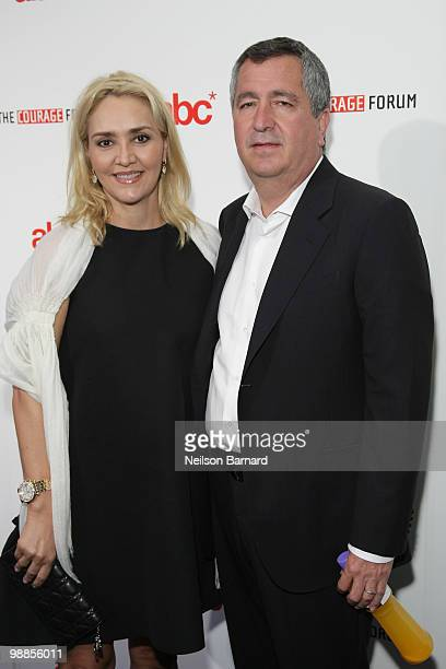 Angelica Fuentes Tellez and Jorge Vergara attend The Americas Business Council opening dinner to celebrate the 2010 Courage Forum at Industria...