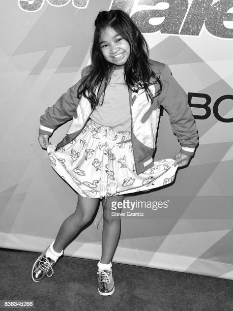 Angelica Hale arrives at the Premiere Of NBC's 'America's Got Talent' Season 12 at Dolby Theatre on August 15 2017 in Hollywood California
