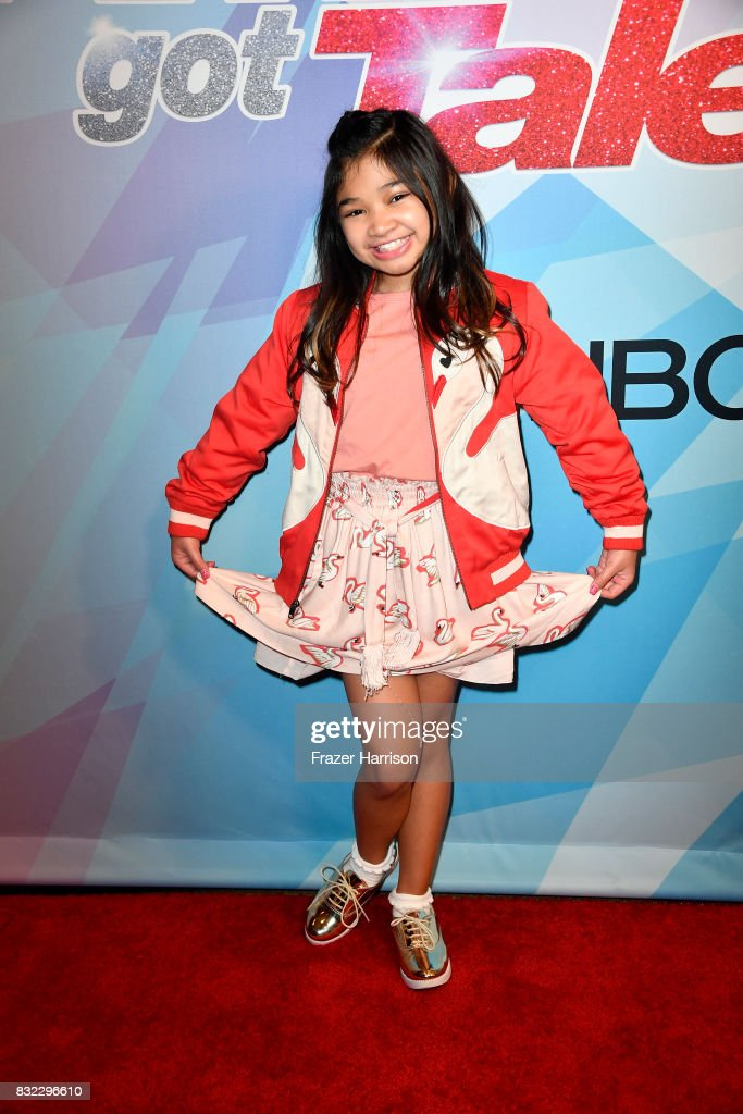 Angelica Hale attends the Premiere Of NBC's 'America's Got Talent' Season 12 at Dolby Theatre on August 15, 2017 in Hollywood, California.