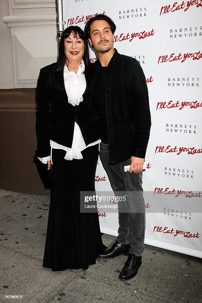 Angelica Huston and <a gi-track='captionPersonalityLinkClicked' href=/galleries/search?phrase=Jack+Huston&family=editorial&specificpeople=839493 ng-click='$event.stopPropagation()'>Jack Huston</a> attend the 'I'll Eat You Last: A Chat With Sue Mengers' Broadway opening night on April 24, 2013 in New York City.