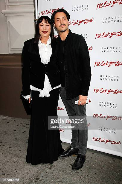 Angelica Huston and Jack Huston attend the 'I'll Eat You Last A Chat With Sue Mengers' Broadway opening night on April 24 2013 in New York City