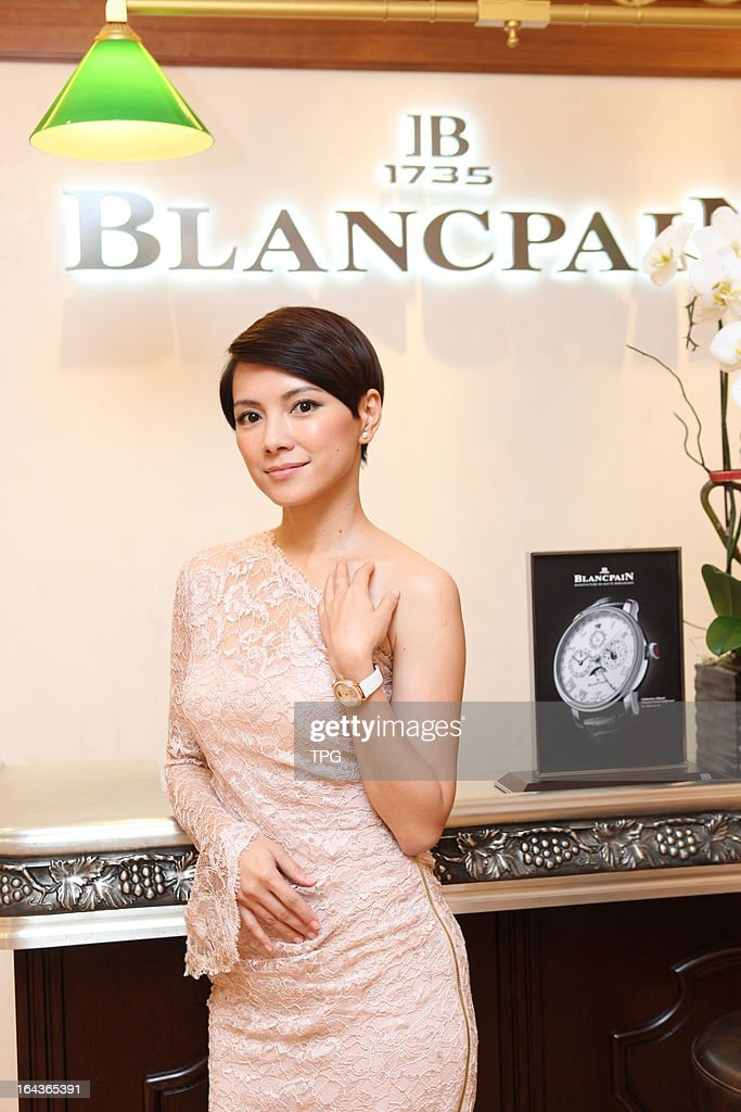 Angelica Lee attend Blancpain 1881 heritage boutique grand opening on Friday March 222013 in Hong KongChina