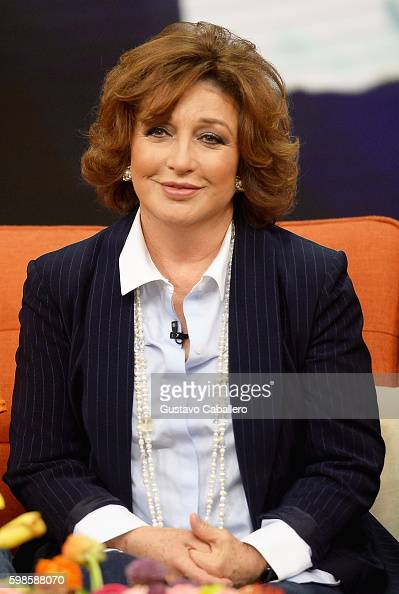Angelica Maria is seen on the set of 'Despierta America' at Univision Studios at Univision Studios on September 1 2016 in Miami Florida