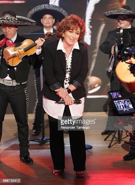 Angelica Maria is seen on the set of 'Despierta America' at Univision Studios on September 2 2016 in Miami Florida