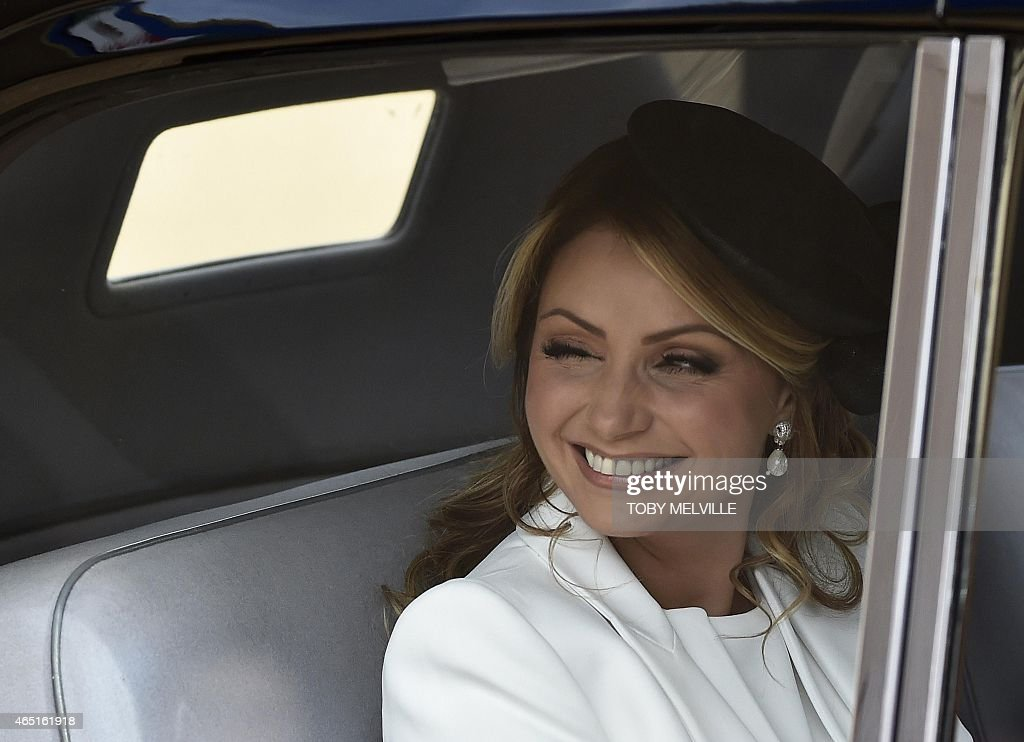 <a gi-track='captionPersonalityLinkClicked' href=/galleries/search?phrase=Angelica+Rivera&family=editorial&specificpeople=4327597 ng-click='$event.stopPropagation()'>Angelica Rivera</a>, wife of Mexican President Enrique Pena Nieto, smiles as she arrives for a Ceremonial Welcome at Horse Guards Parade in central London on March 3, 2015, the first day of the President's three-day state visit to Britain.
