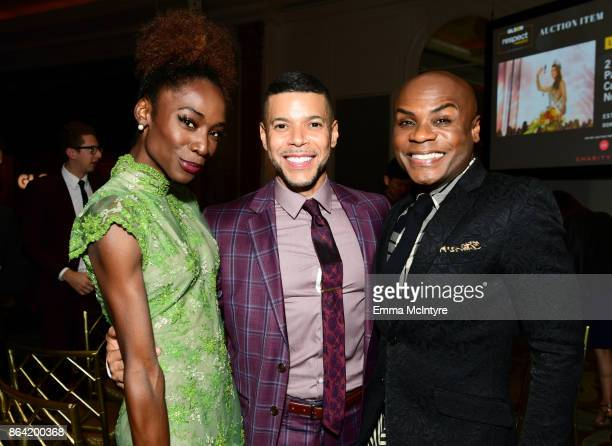 Angelica Ross Wilson Cruz and Nathan Lee Graham at the 2017 GLSEN Respect Awards at the Beverly Wilshire Hotel on October 20 2017 in Los Angeles...