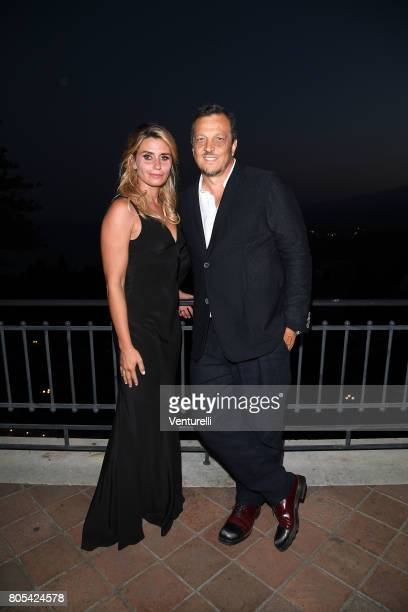 Angelica Russo and Gabriele Muccino attend Nastri D'Argento 2017 Awards Ceremony on July 1 2017 in Taormina Italy