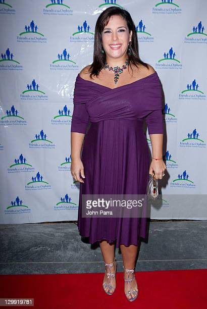 Angelica Vale attends Friends of the Orphans Second Annual All the World to One Child Gala at Fairchild Tropical Gardens on October 21 2011 in Miami...
