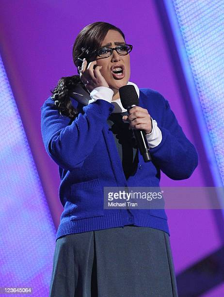 Angelica Vale speaks onstage at the 11th Annual Latin Grammy Awards at Mandalay Bay Events Center on November 11 2010 in Las Vegas Nevada