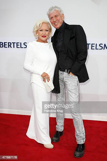 Angelika Milster and Ted Linow attend the Bertelsmann Summer Party on June 18 2015 in Berlin Germany