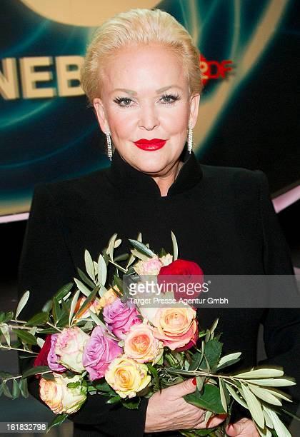 Angelika Milster attends the 'Willkommen bei Carmen Nebel' 10 Years Anniversary show at Velodrom on February 16 2013 in Berlin Germany