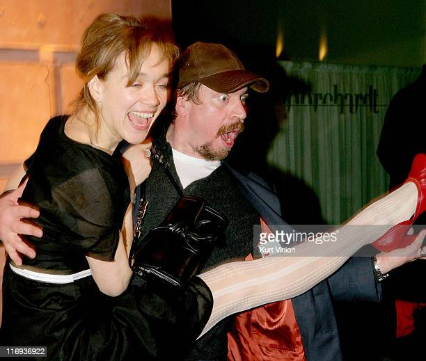 Angelika Richter and Armin Rohde during 56th Berlinale International Film Festival VW People's Night Party at Borchardt Restaurant in Berlin Germany