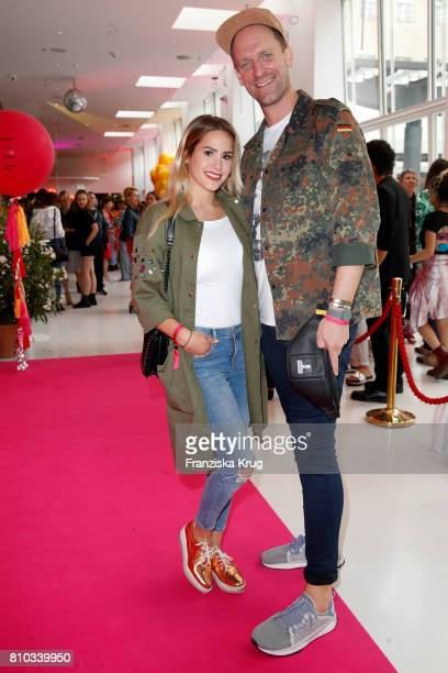 Angelina Heger and Daniel Termann attend the Gala Fashion Brunch during the MercedesBenz Fashion Week Berlin Spring/Summer 2018 at Ellington Hotel on...