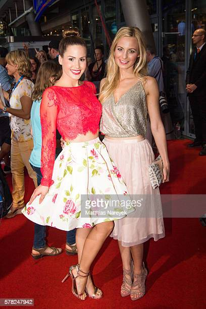 Angelina Heger and Syra Feiser attend the premiere of the film 'PETS' at CineStar on July 20 2016 in Berlin Germany