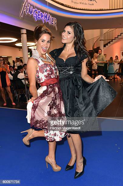 Angelina Heger and Tanja Tischewitsch during the Angermaier Kicks Off Oktoberfest Season With 'TrachtenNacht' on September 8 2016 in Munich Germany