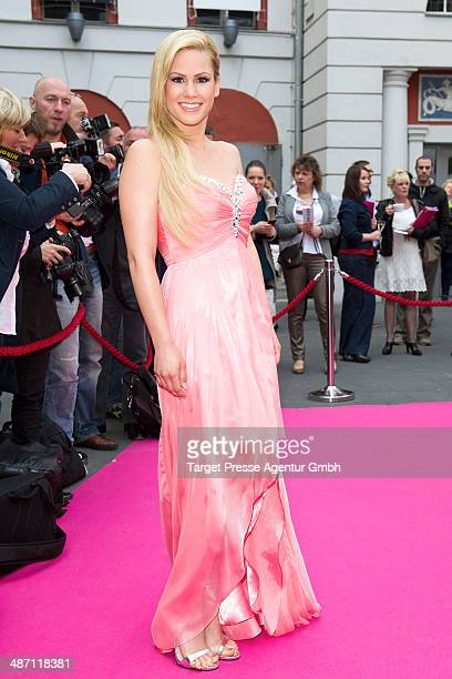 Angelina Heger attends the 'Dirty Dancing' musical premiere at Admiralspalast on April 27 2014 in Berlin Germany