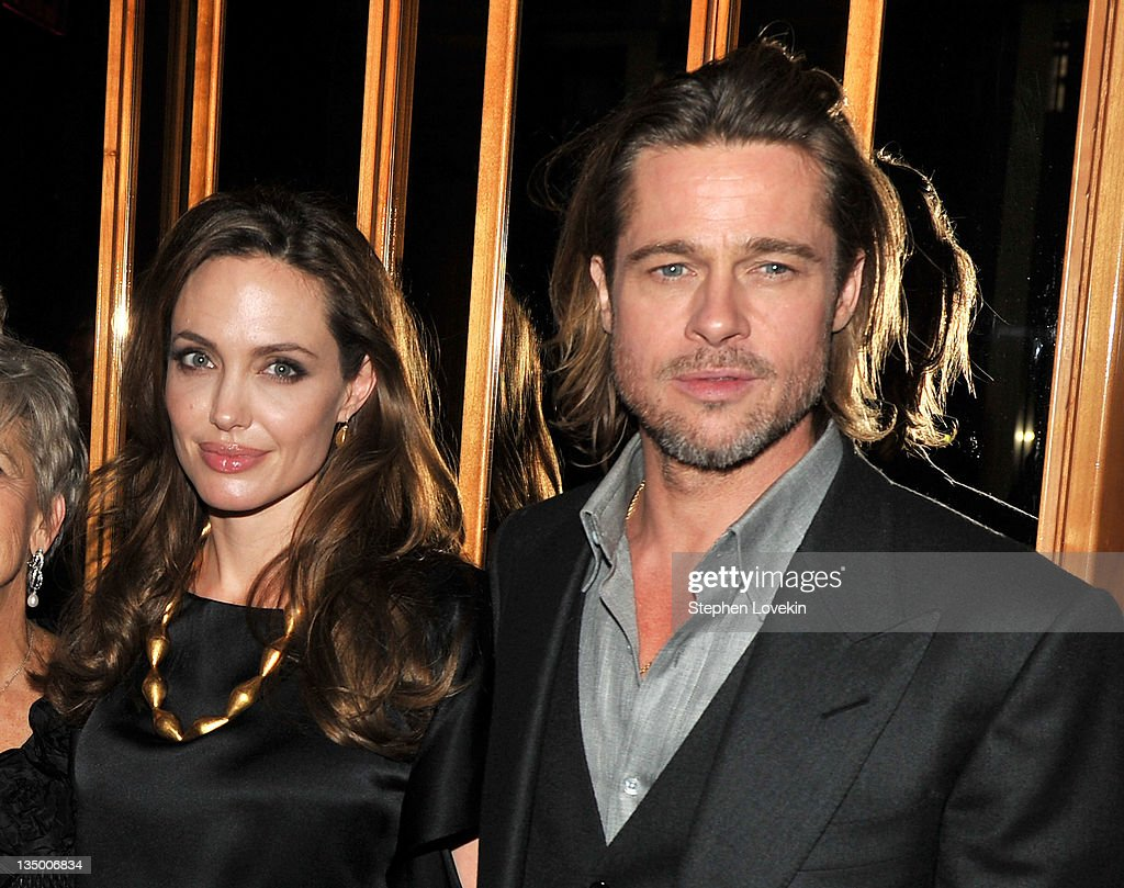 Angelina Jolie and Brad Pitt attend the after party for the premiere of 'In the Land of Blood and Honey' at the The Standard Hotel Rooftop on December 5, 2011 in New York City.