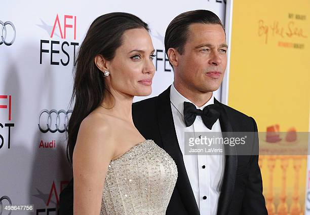 Angelina Jolie and Brad Pitt attend the premiere of 'By the Sea' at the 2015 AFI Fest at TCL Chinese 6 Theatres on November 5 2015 in Hollywood...